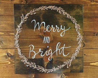 Merry and Bright Christmas Wall Decor