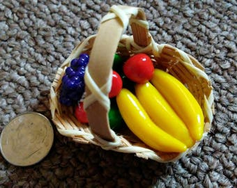 Basket of Clay Fruit