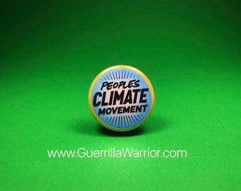 Peoples Climate Movement (1.25 inch pinback button)