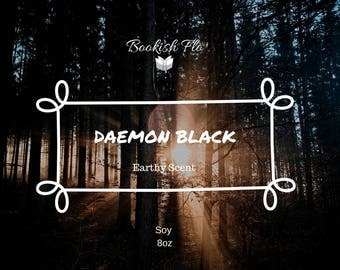 Daemon Black ~ Wood Wick 100% Soy Wax Candle
