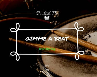 Gimme A Beat~ Wood Wick 100% Soy Wax Candle