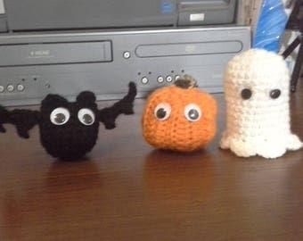 Halloween Bat, Pumpkin, Ghost Set