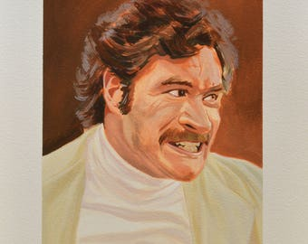 Ray Purchase Painting, Toast of London, Gouache Portrait, Harry Peacock, Ray Bloody Purchase, Steven Toast, Clem Fandango, Jane Plough