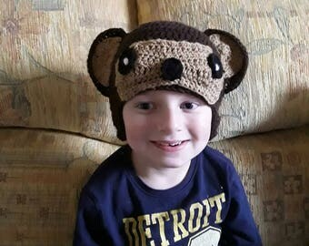 Crochet child's monkey hat.