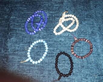 90's Glass bead bracelets