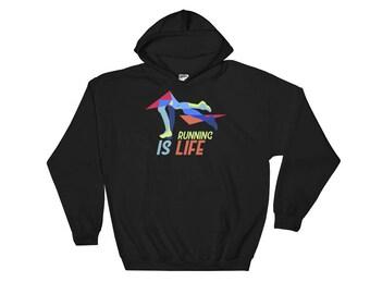 Running Is Life Hooded Sweatshirt