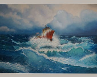 """RED SHIPWRECK"""", 130x90cm, Oil on Canvas"""