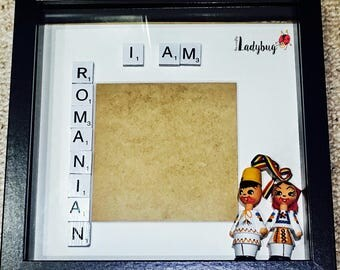 Personalised Traditional Romanian Box Frame, Love Frame