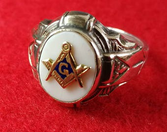 Masonic Ring 10K and Sterling
