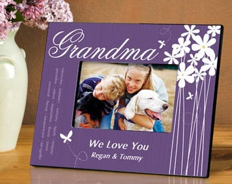 Personalized Grandma Bloomin' Butterfly Picture Frame - Grandma Photo Frames - Grandma Picture Frames - Personalized Grandma Gifts