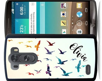 Personalized Rubber Case For LG  3, 4, 5, 6 - Flying Birds