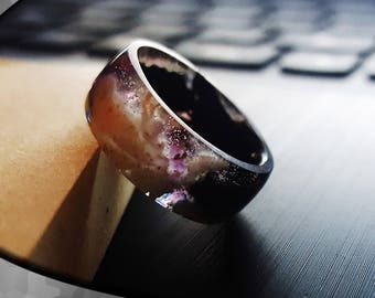 """Ring black S """"after luminous"""""""
