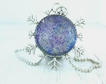 Christmas Cabochon cameo Pendant necklace