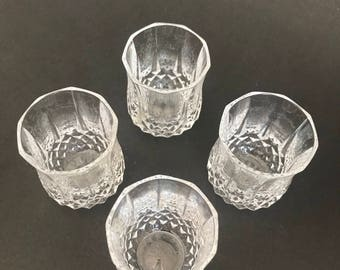 Set of 4 Longchamp Shot glasses from Cristal D'arques Durand