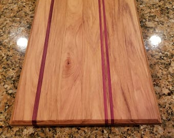 Hickory and Purple Heart Cutting Board