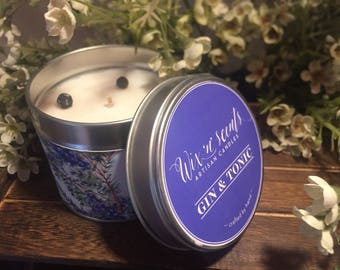 Gin & Tonic Hand Made Scented Candle.