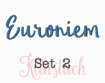 50% Sale!! Set 2 Eufoniem Embroidery Fonts 5 Sizes Fonts BX Fonts Embroidery Designs PES Fonts Alphabets - Instant Download