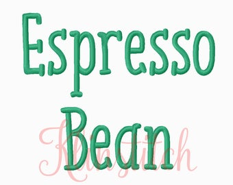 50% Sale!! Espresso Bean Embroidery Fonts 5 Sizes Fonts BX Fonts Embroidery Designs PES Fonts Alphabets - Instant Download
