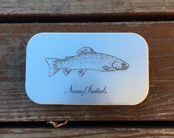 Fly Fishing Box - Fly Fisherman - Fly Fishing Gifts - Fisherman Gift - Personalized - Engraved - Tackle Box - Trout - Wheatley