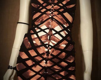 String Art Triangle Cut Out Dress