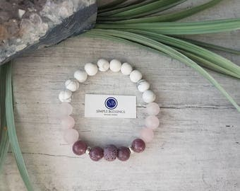 Peace, Love and Calm Healing Bracelet