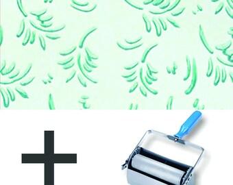 Pattern Paint Roller Kit DIY Wallpaper - Leaf Patterns (upgrade to Double Applicator)