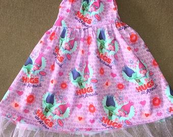 Girl's Trolls Valentine's Day Dress