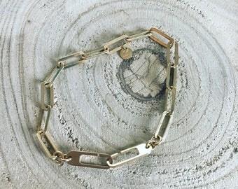 """Osmosis"" large Figaro chain bracelet"