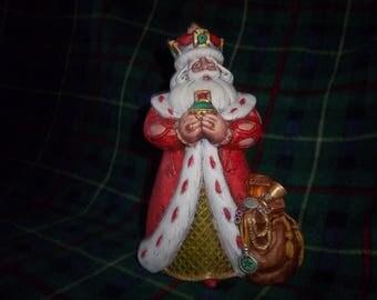 Hand Painted Ceramic Santa #11