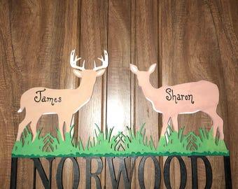 Deer family wall decor