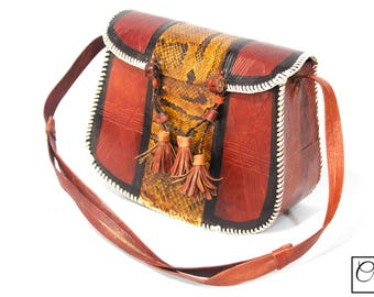 African Leather Cross Body /Shoulder Handbags