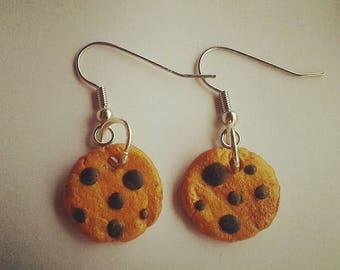 Cookies earrings made of fimo