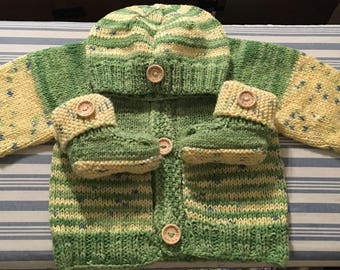 Knitted Blankets, Monster Pants, Cardigans/Sweaters, Jackets, Hats, Scarfs and Booties