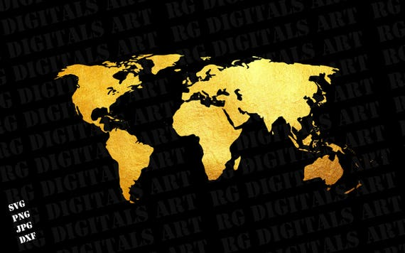 Gold world map svg gold world map svg clipart silhouette gold world map svg gold world map svg clipart silhouette gold world map vector digital download svg png dxf cricut cut files from rgdigitalsart on etsy gumiabroncs Choice Image