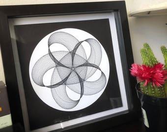 Black & White Spirograph