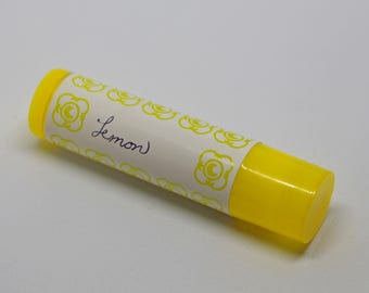 Lemon Lip Balm, All-Natural, Essential Oil, Coconut Oil, Besswax
