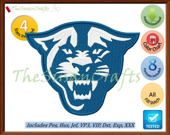 Georgia PANTHERS EMBROIDERY DESIGNS Pes, Hus, Jef, Dst, Exp, Vp3, Xxx, Vip