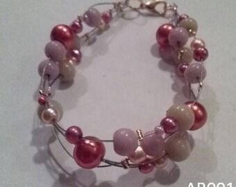 Glide bracelet Pink