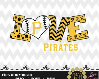 Pittsburgh Pirates baseball svg,png,dxf,cricut,silhouette,jersey,shirt,proud,birthday,invitation,sports,cut,girl,love,softball,2018new,decal