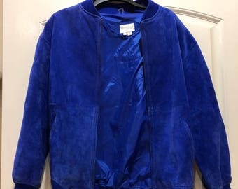 Vintage Blue Suede Coat