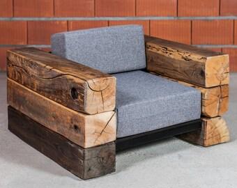 Industrial Armchair, Modern Armchair, Rustic Armchair, Modern Tarrace Furniture  Industrial Outdoor Armcher Tarrace