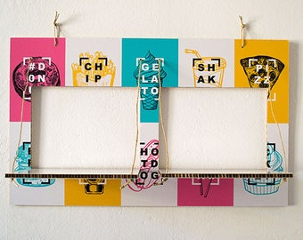 Decorated cardboard shelves-CARTONSOLE-model 025 FOOD