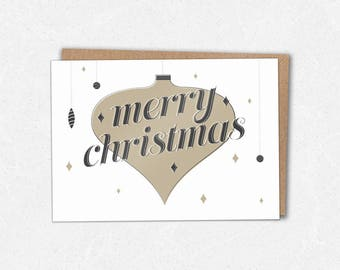 Merry Christmas Ornaments - Christmas Card