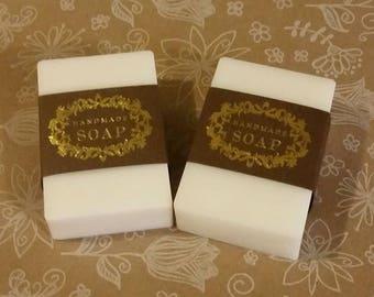 Goat's Milk Soap, Natural Unscented Goat's Milk Soap, Moisturizing Soap, Hand Made,