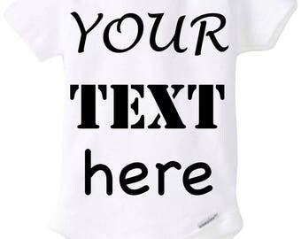 Custom made Baby Onesies & Toddler T-shirts