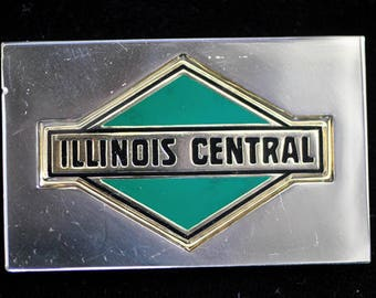 Franklin Mint Railroad Emblem Bar of Illinois Central Railroad on Sterling.76oz