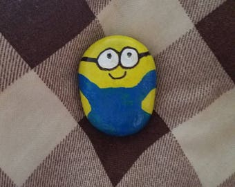 Hand painted minion rock