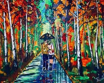 Modern art Acrylic Canvas Painting used knifepainting