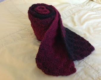 Crochet Red Ombre Scarf