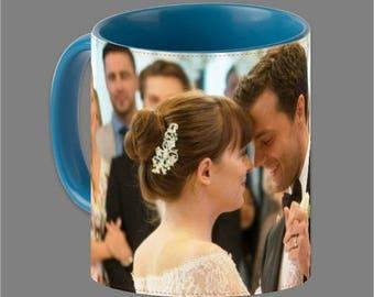 Dakota Johnson Jamie Dornan Coffee Cup Fifty Shades #0003